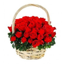 Cheerful Wishes - 24 Stems Basket