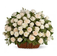 Beautiful in White - 36 Stems Basket