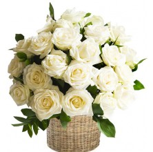 Stunning Roses - 24 Stems in Basket