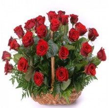 Breathlessly Rose - 24 Stems In Basket