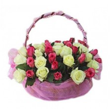 Meaningful Roses - 36 Stems In Basket