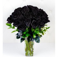 Black Romance - 18 Stems Vase