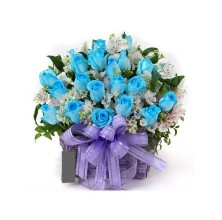 Blue Clues - 24 Stems In Basket