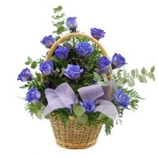 Blue by You - 12 Stems In Basket