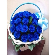 Out of the Blue - 12 Stems Basket