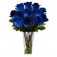 Out of the Blue - 12 Stems Vase