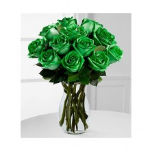 Double Dip Green - 12 Stems Vase