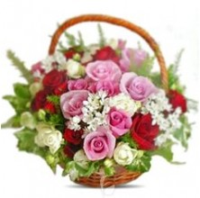 Gorgeous Combination - 12 Stems Basket