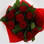 1 Dozen Red Roses - 12 Stem Bouquet
