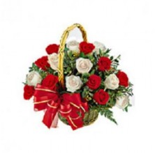 Hugs and Kisses - 12 Stems Basket