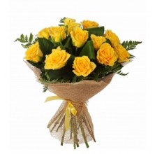 Sunny Roses - 12 Stems In Bouquet