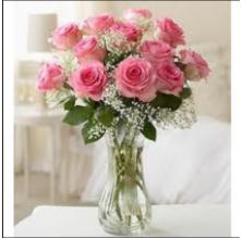Pink Stunning - 12 Stems  Vase