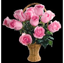 Enchanting Flower - 12 Stems Basket