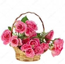 Pink Stunning - 12 Stems  Basket