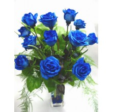 Blue by You -12 Stems In Vase