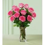Blushing Hue - 12 Stems In Vase