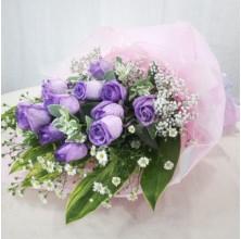 Purple Love - 12 Stems Bouquet
