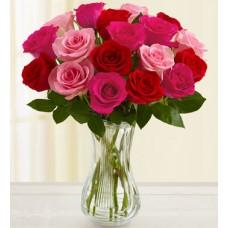 Blushing Beauty -12 Stems Vase