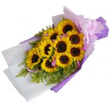 Shining Flowers Bouquet - 12 Stems