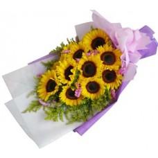 Shining Flowers Bouquet - 12 Stems