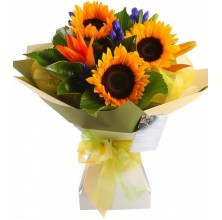 Colorful Sunflower - 3 Stems Bouquet