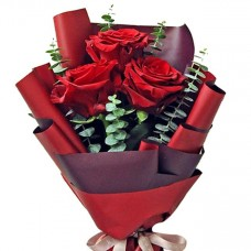 3 pcs Red Roses Bouquet