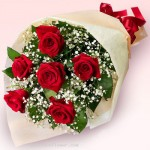 6 pcs Red Roses Bouquet