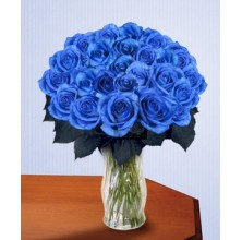 Blue Clues - 24 Stems In Vase