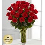 Breathlessly Roses - 24 Stems In Vase