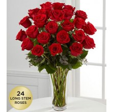 Breathlessly Roses - 24 Stems In Vase