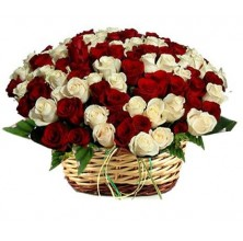 Best Wishes Roses - 36 Stems Basket