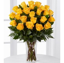 Glowing Roses - 24 Stems In Vase