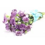 Purple Carnations - 10 Stems Bouquet